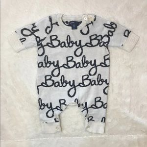 Gap baby script sweater outfit